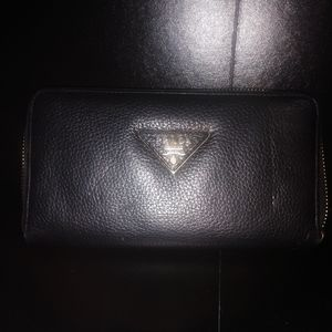 Genuine black leather Prada wallet